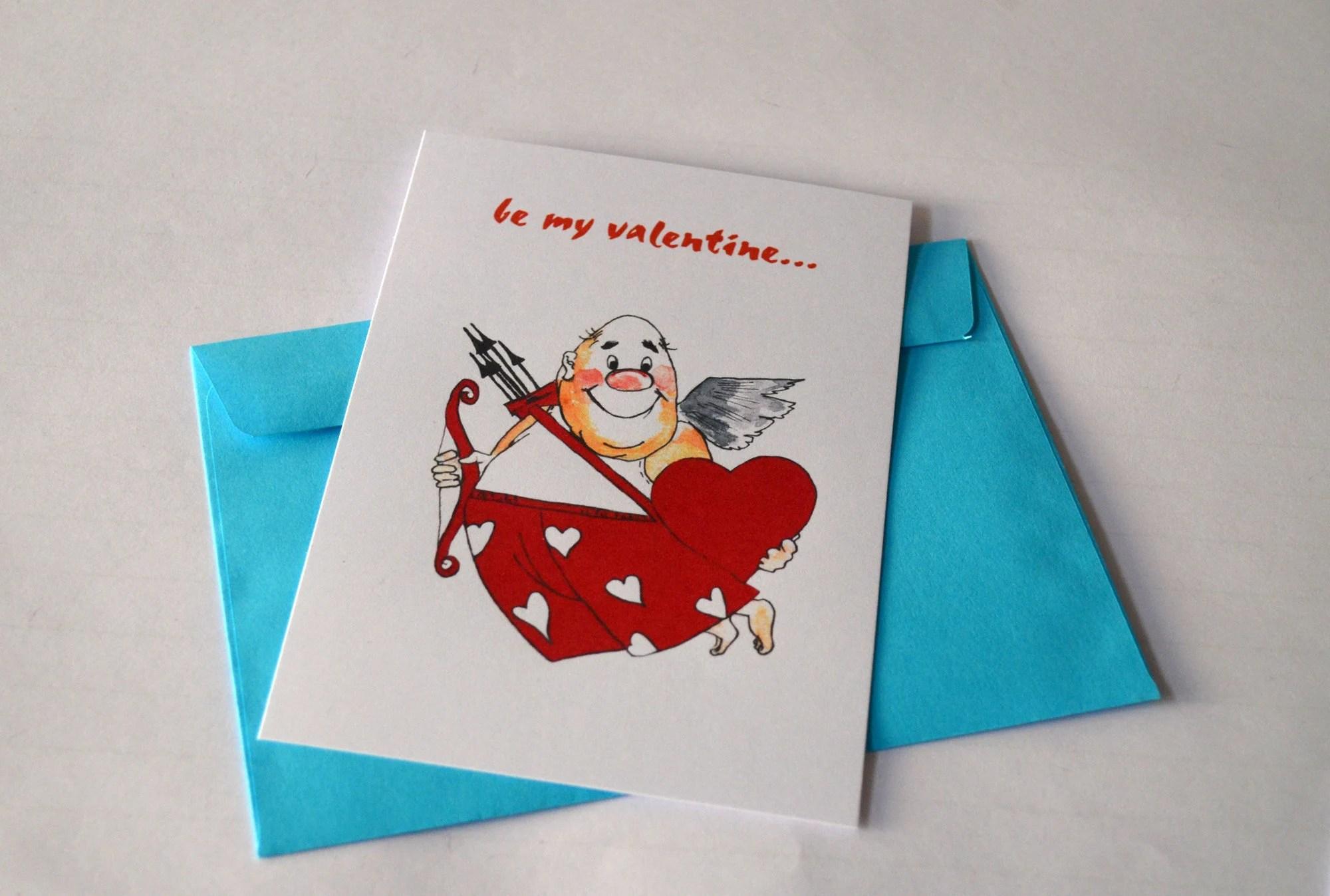 be my valentine card etsy