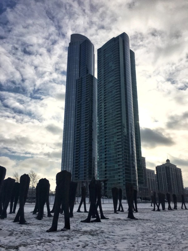 Agora Chicago Sculptures Winter In
