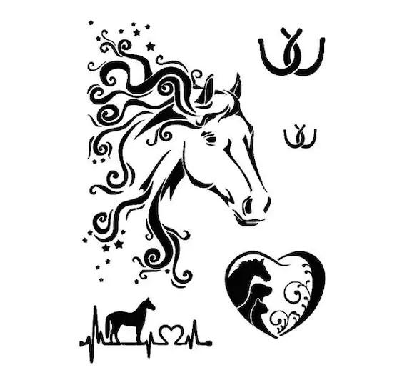 Stencils & Crafts Template HORSE HEAD Multi STENCIL 175 A4