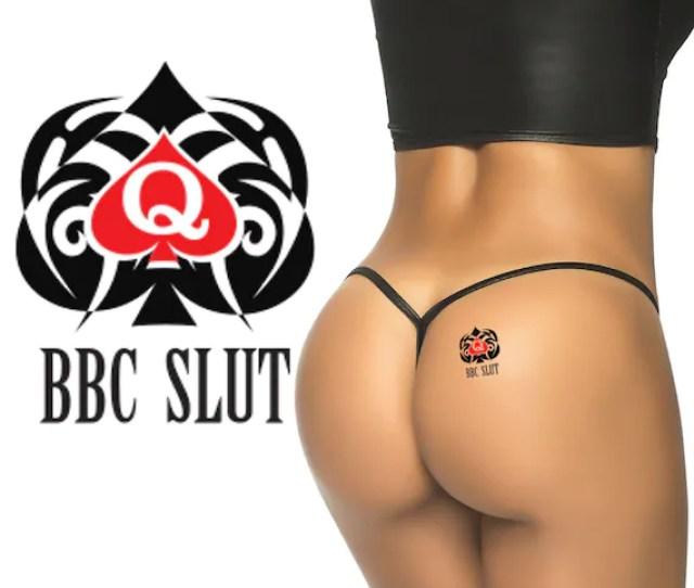 Bbc Slut Queen Of Spades Temporary Tattoo Fetish For Hotwife Cuckold Swinger