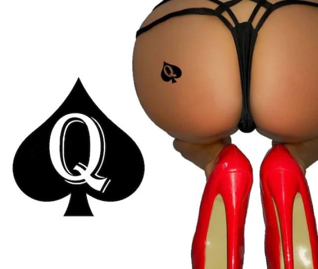 Queen Of Spades Qos Temporary Tattoo Fetish Bbc Hotwife Cuckold Cuck Slut Swinger Tattoos Style Qostt02