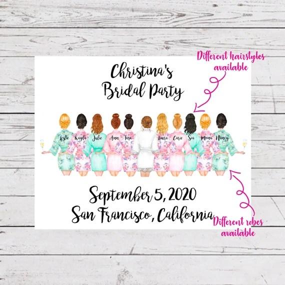 Bridesmaid Gift Bride Gift Bridal Party Gift Bridesmaid Etsy