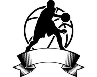 Download Basketball Logo 1 Hoop Net Ball Sports Game Icon .SVG .EPS ...