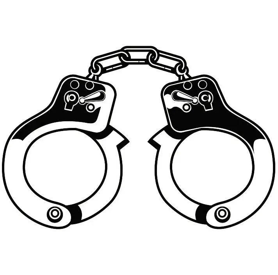 Police Handcuffs 2 Officer Cop Law Enforcement Uniform