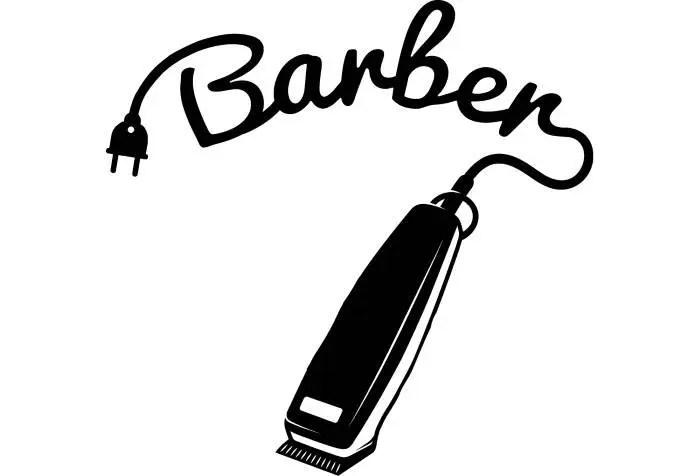 Barber Logo 1 Salon Shop Haircut Hair Cut Groom Grooming