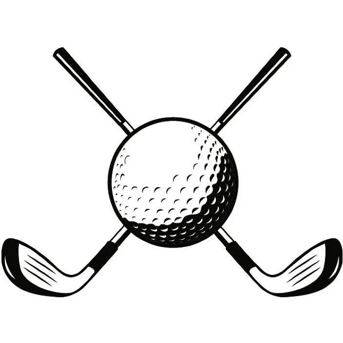 Golf Logo 41 Tournament Club Iron Wood Golfer Golfing