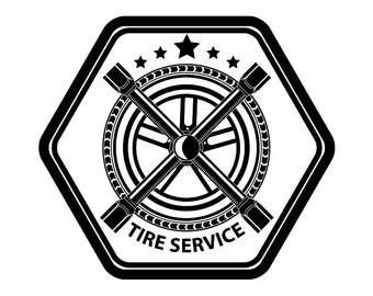 Mechanic Logo 25 Tire Wheel Rim Wings Motor Engine Auto Car