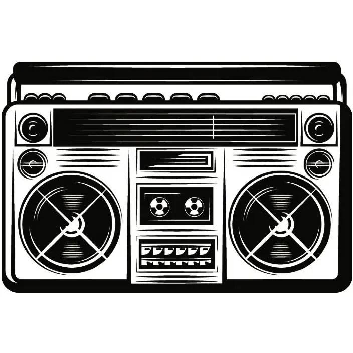 radio boombox 1 vintage