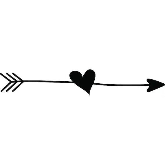 Download Doodle Ding 1 Arrow Heart Love Line Break Cute Quote ...