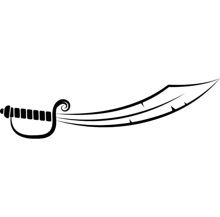 Pirate Sword Skull Crossbones Jolly Roger .SVG .EPS .PNG