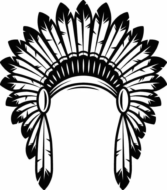 Native American Tribal Feather Tattoo