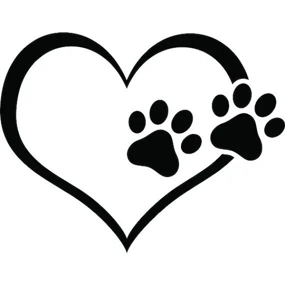 Download Paw Print 4 Heart Love Dog Puppy Cat Kitten Animal ...