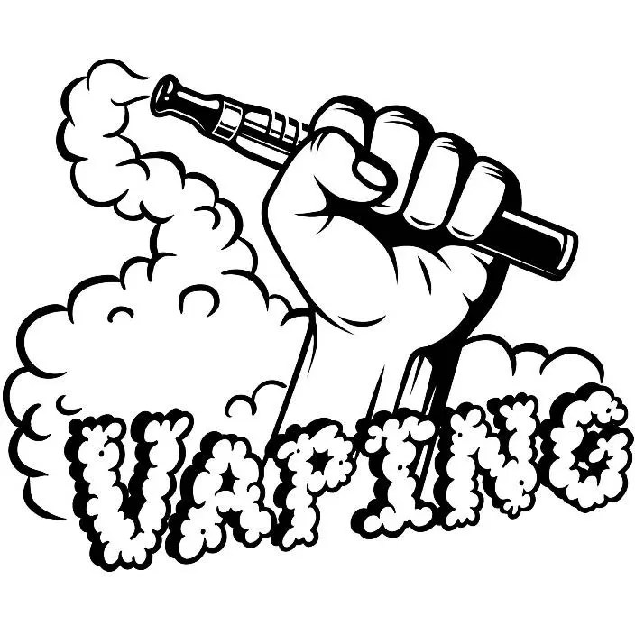Vaporizer Logo 14 Vape Vapor Crossed Smoking Smoke Shop