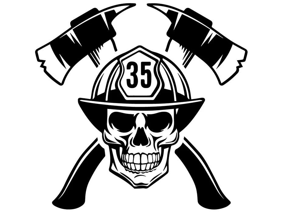 Firefighter Logo 20 Firefighting Rescue Axes Fireman