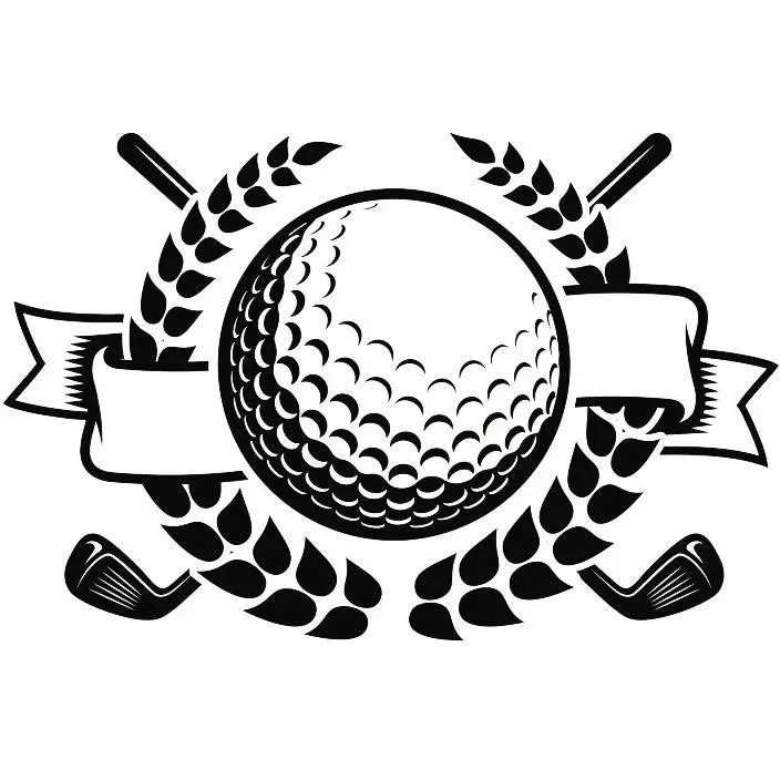 Golf Logo 32 Tournament Club Iron Wood Golfer Golfing