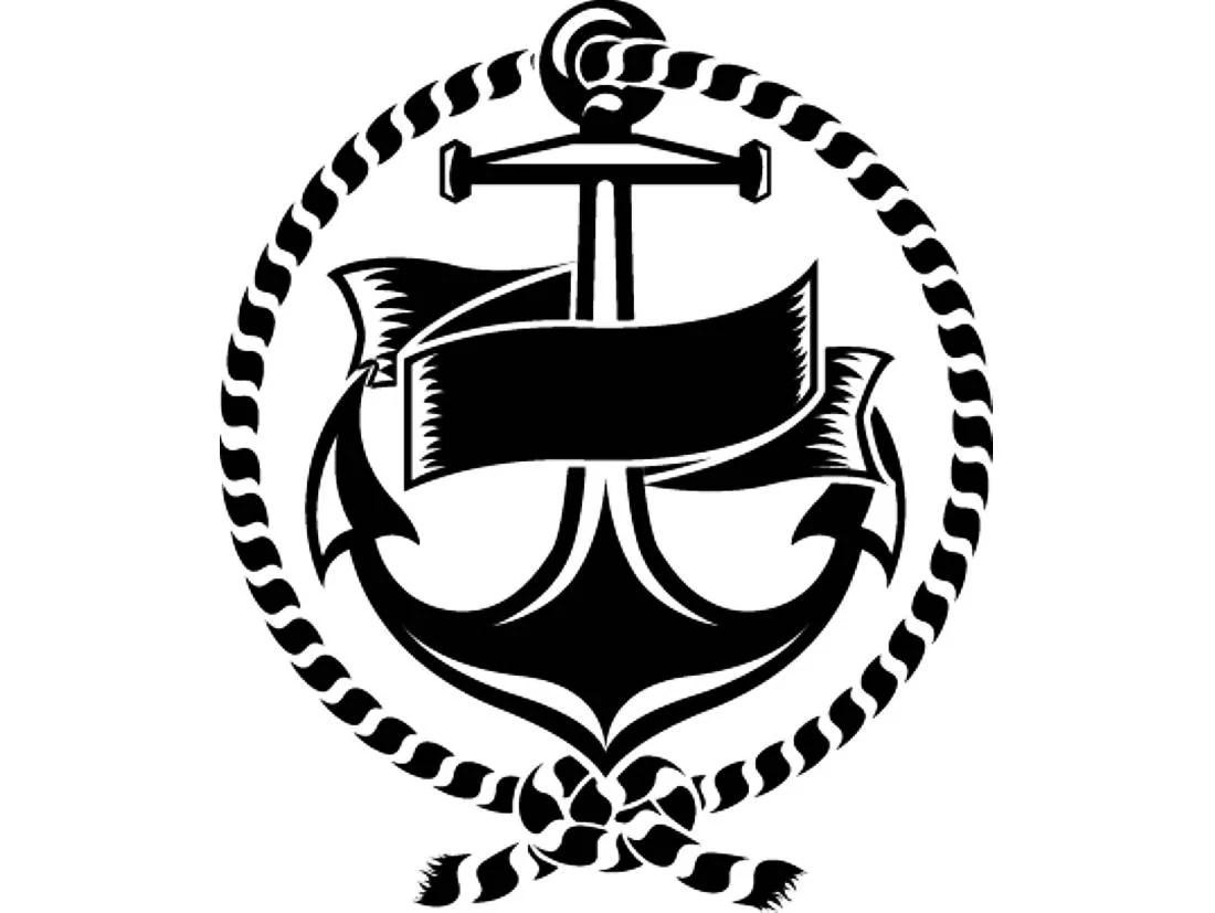 Anchor Logo 5 Rope Banner Ship Boat Nautical Marine