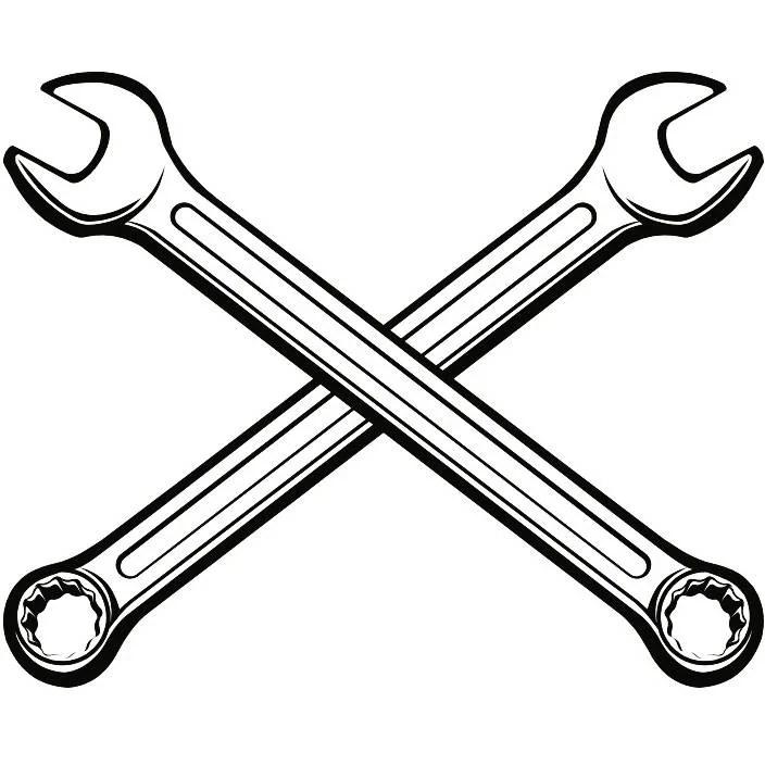 Construction Logo 12 Wrench Tool Toolbox Plumber Handyman