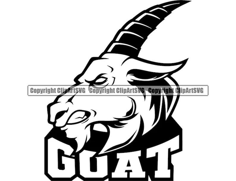 Goat Horn Mascot School Team Head Face Sport eSport Game