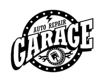 Mechanic Logo 43 Pistons Wrench Engine Auto Car Part Biker