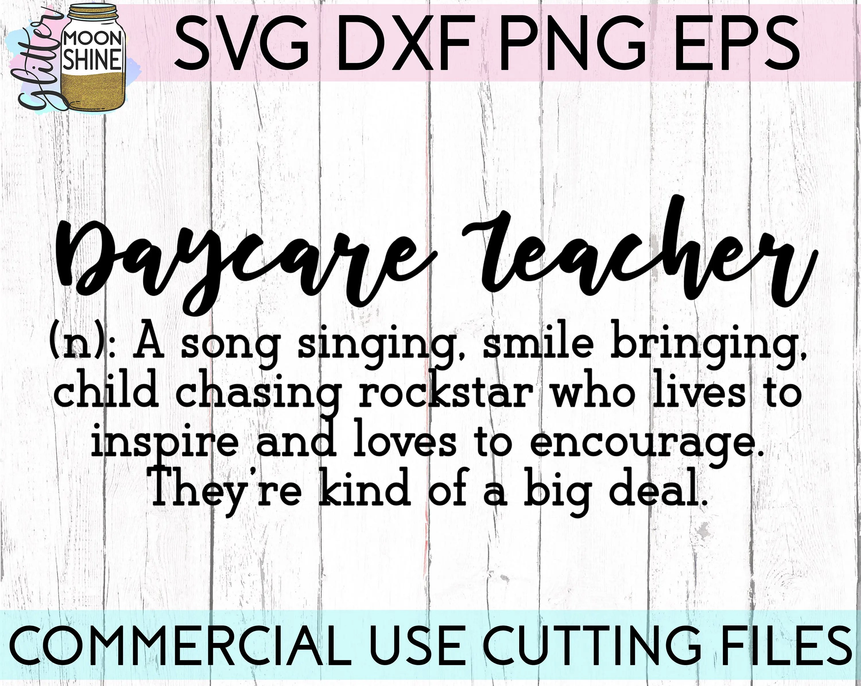 Daycare Teacher Definition svg eps dxf png cutting files ...
