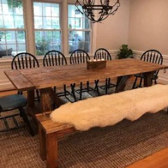 Large Kitchen Table Americast Sink Dining Etsy Rustic Farmhouse Farm Room Long Distressed