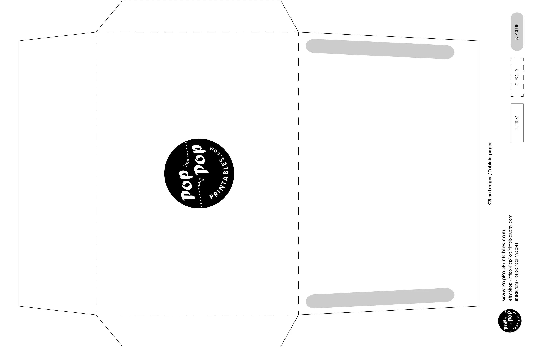 Easy blank DIY C5 Card Envelope /// A8 Envelope printable