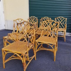 Chinese Chippendale Chairs Uk Wooden Accent Chair Etsy Set Of 8 Vintage Bamboo Dining