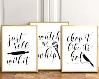 art for kitchen wall rochester remodeling etsy signs decor printables poster quote modern print