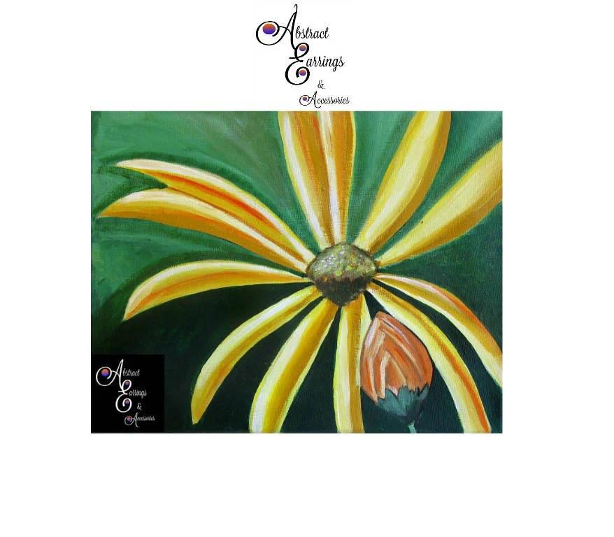 yellow sunflower art canvas
