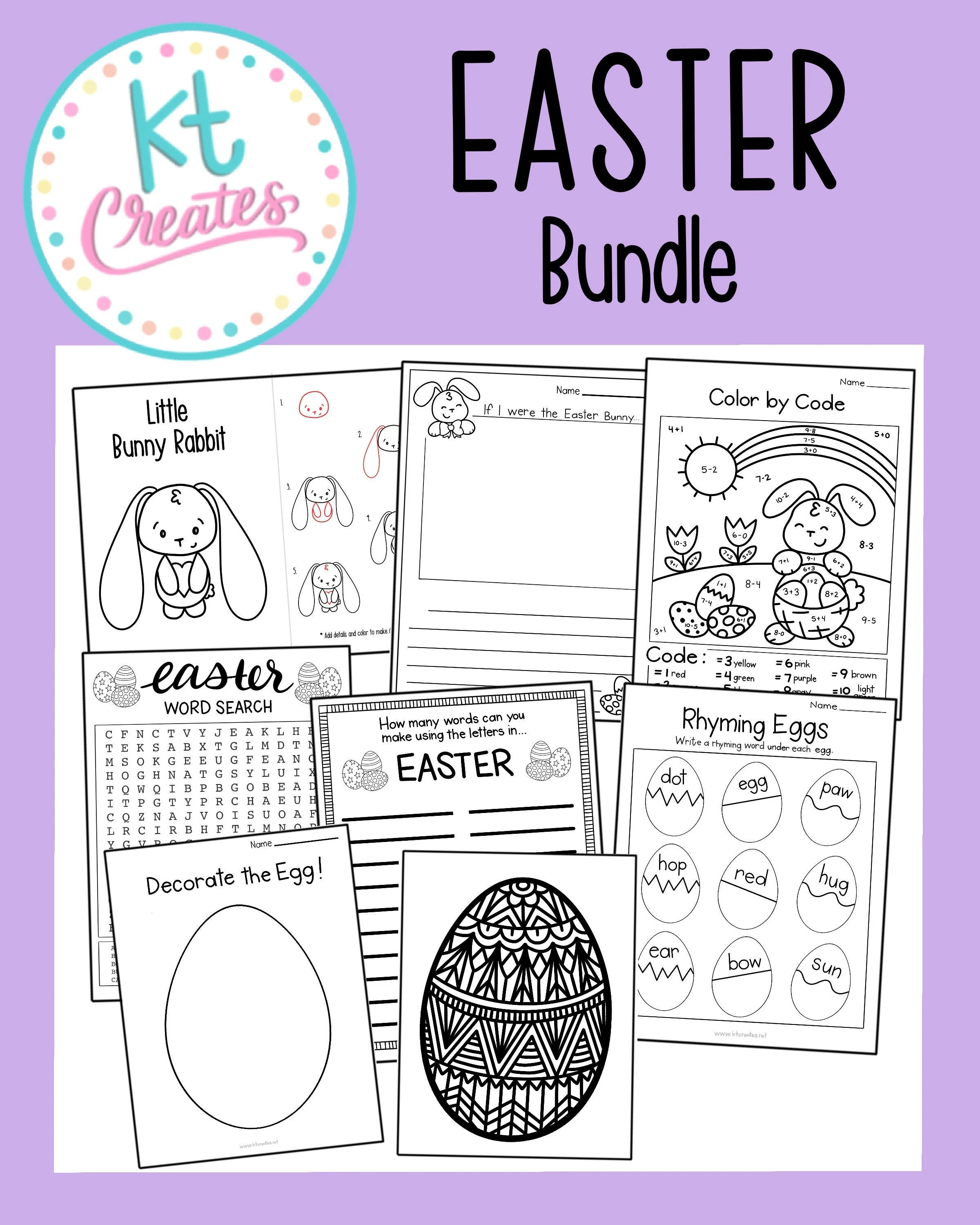 Easter Bundle 8 Different Activities And Worksheets