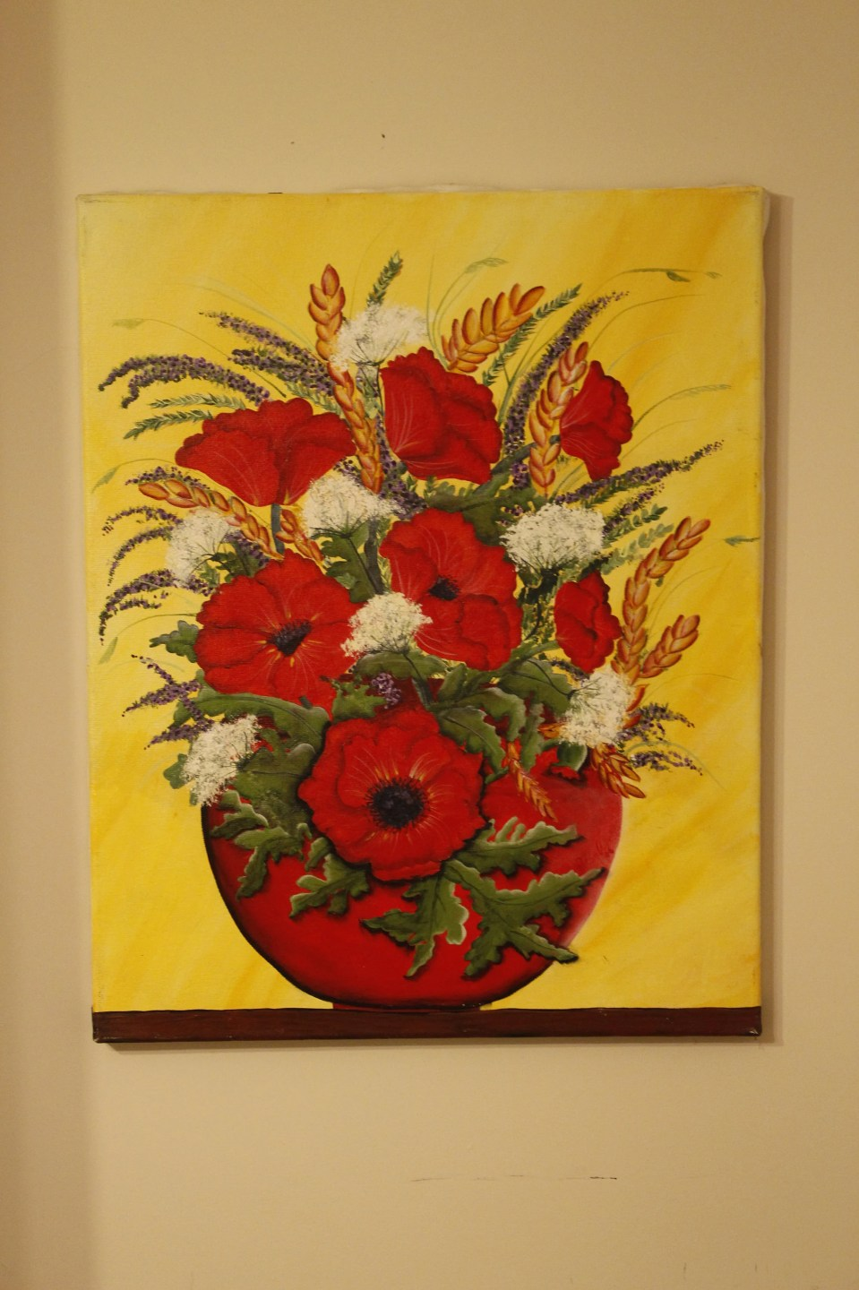 Mama's Flowers on canvas