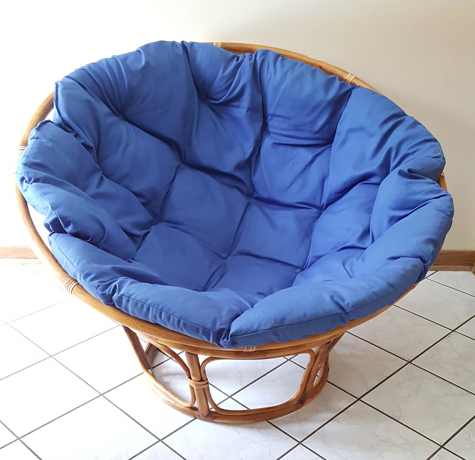 papasan chair cover etsy cosco folding chairs and blue cushion note buyer arranges own image 0