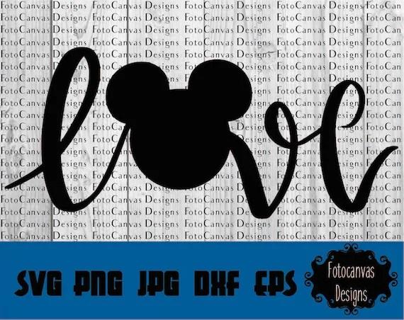 Download Disney SVG Mickey Head Love ClipArt Iron On Vinyl   Etsy