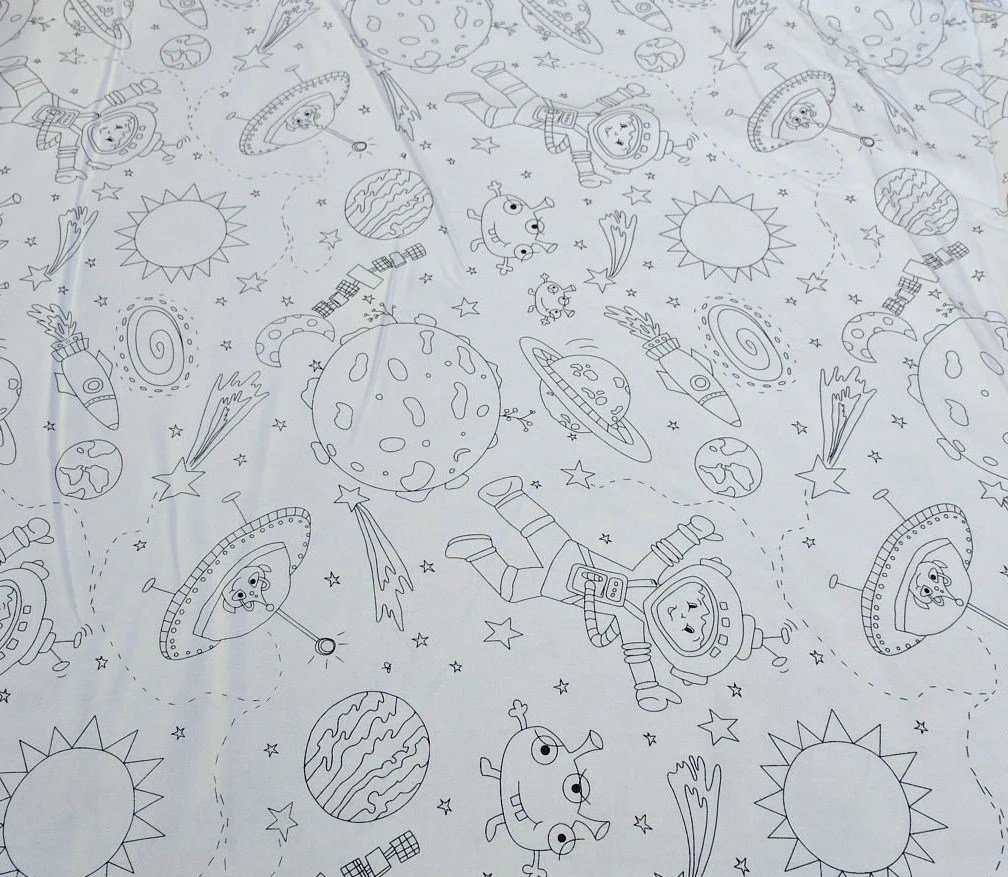 To the Moon and Back-Color Me Fabric by Michael Miller