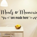 Meals And Memories Are Made Here Kitchen Wall Decor Farmhouse Kitchen Dining Room Wall Art Kitchen Decal Kitchen Wall Sticker