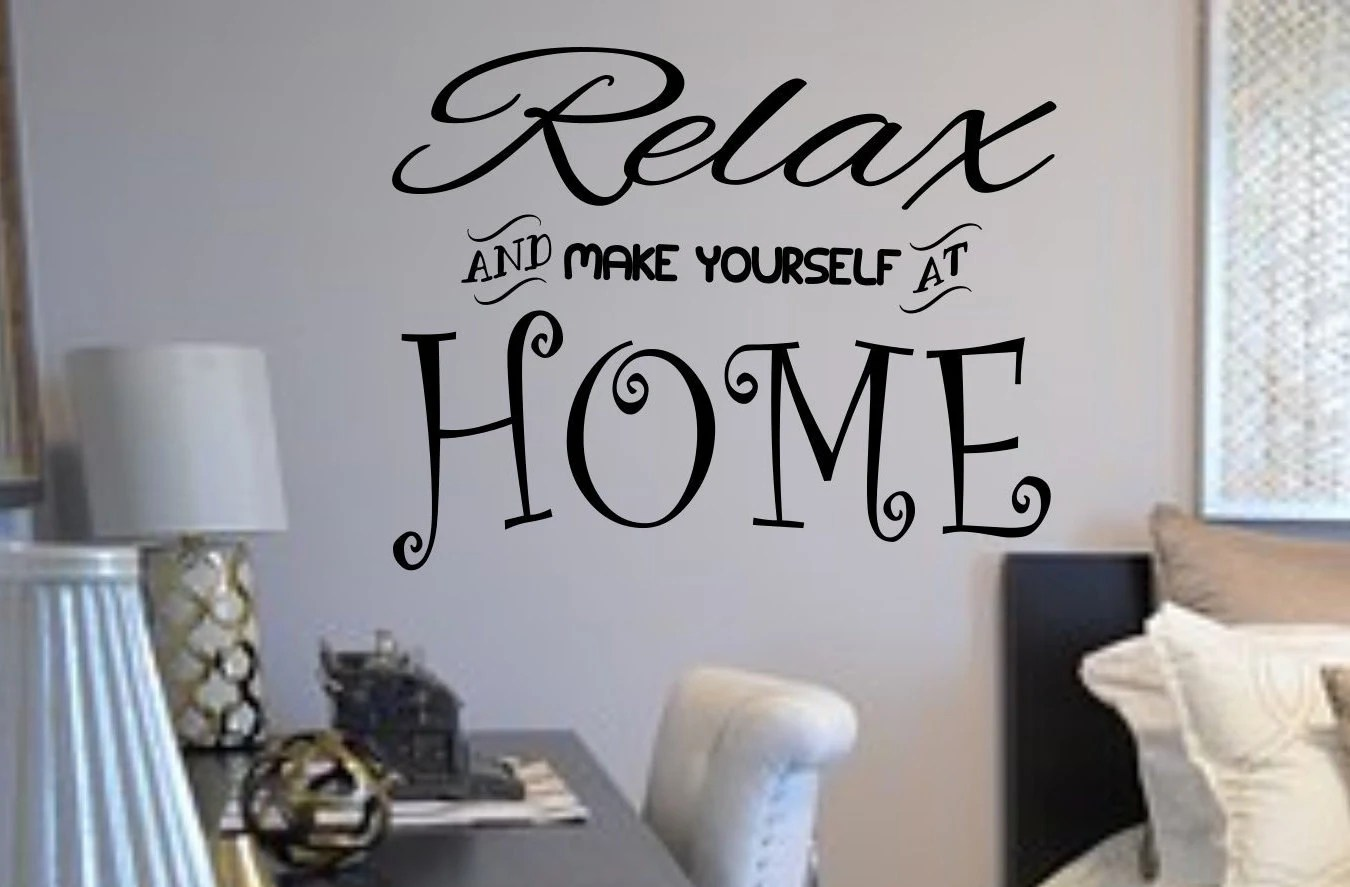 Relax Wall Decal Living Room Decal Entryway Decor Relax And