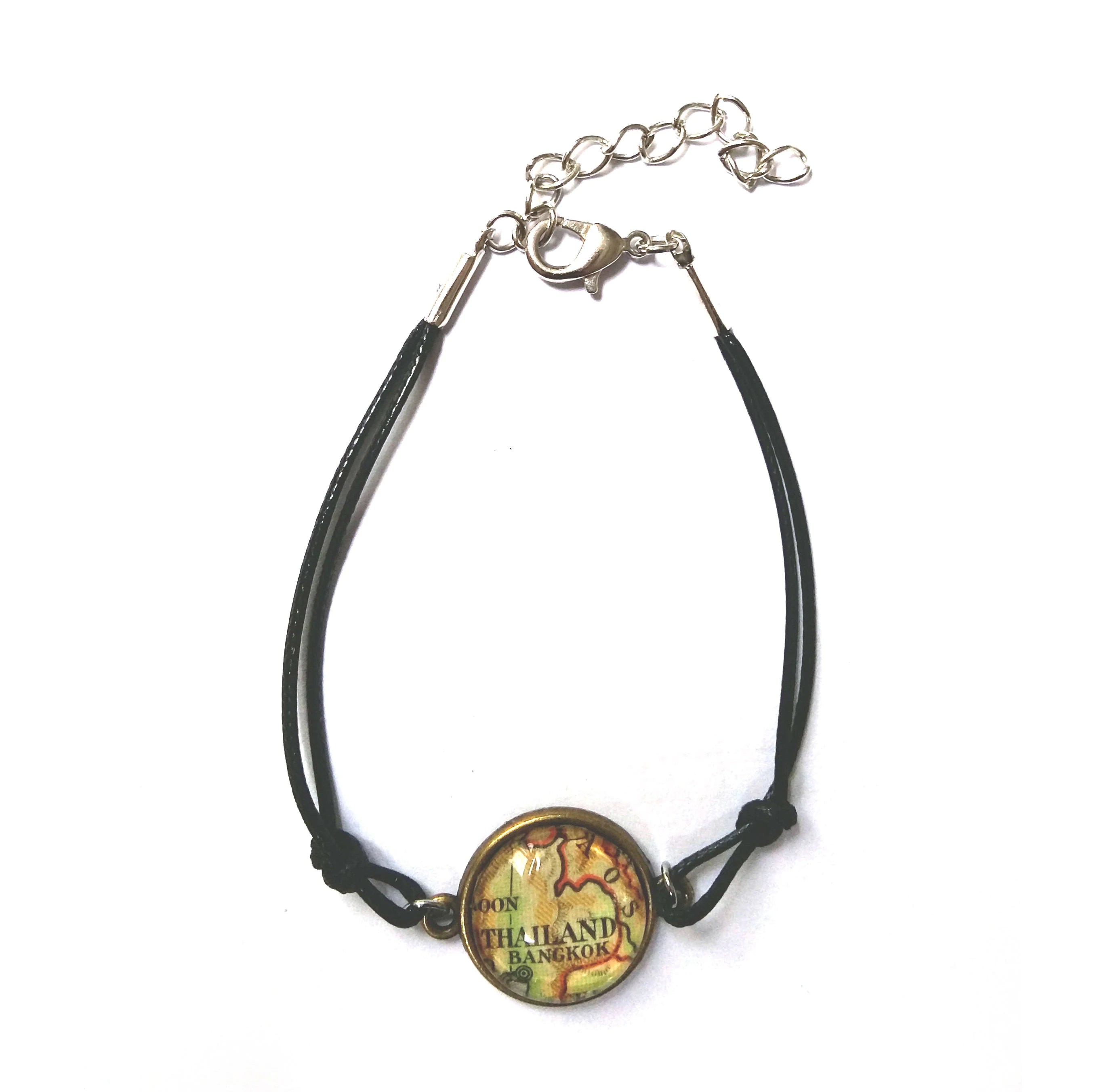 Personalized World Map Bracelet