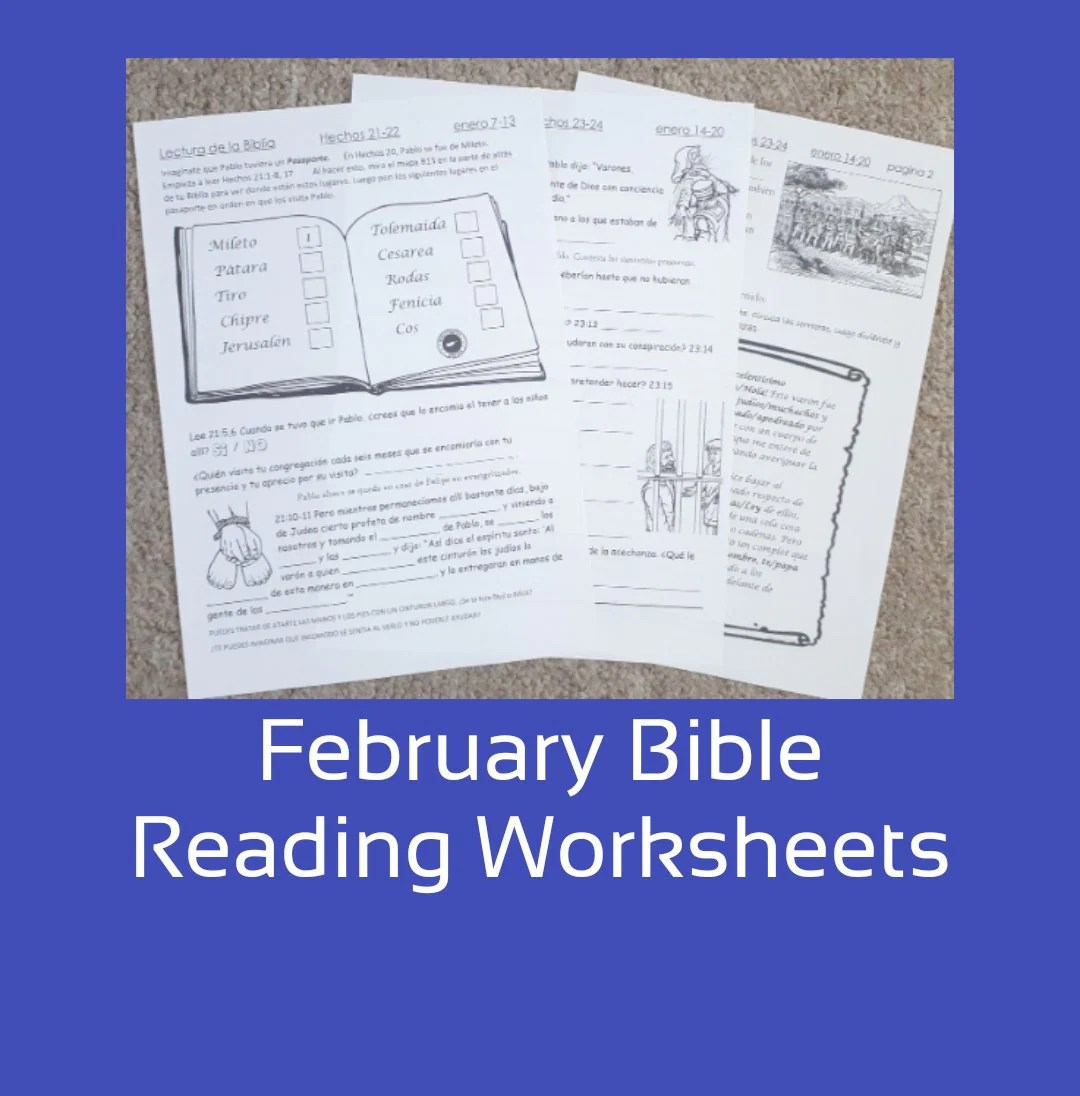 February Bible Reading Jw Worksheets For 6 13yo