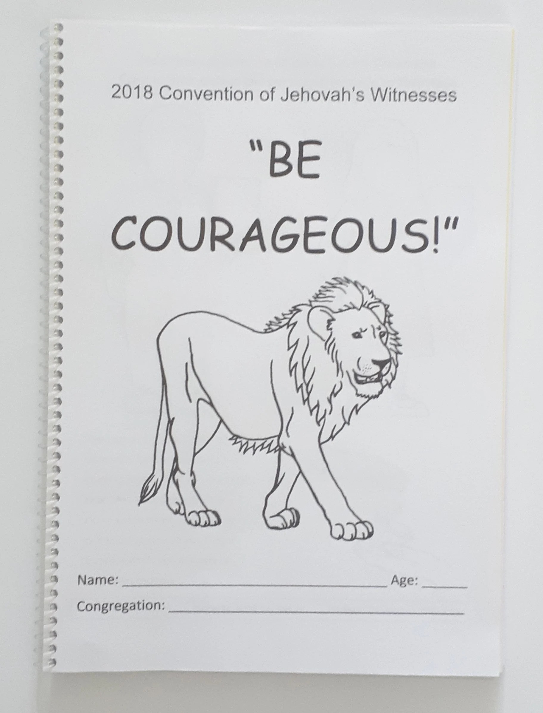 6 13yo Regional Convention Be Courageous Jw Notebook For