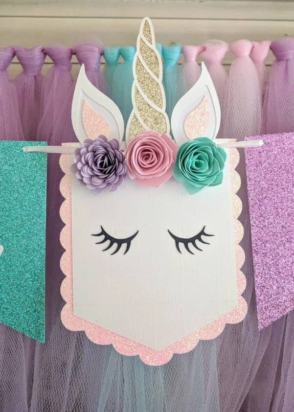 Unicorn party ideas, unicorn party banner