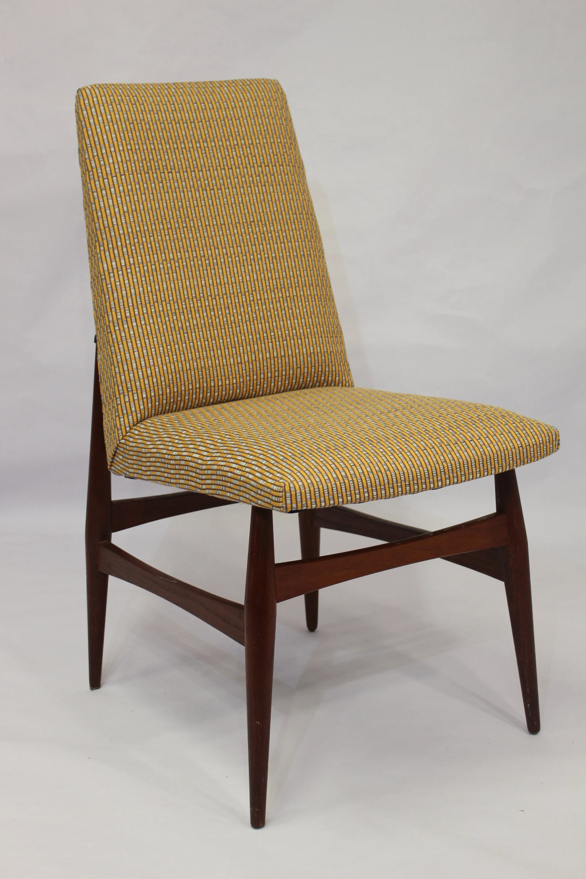 Scandinavian Chair Scandinavian Chair In Red Teak 1960 Fabric Edition Lelievre