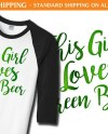 This Girl Loves Green Beer Baseball Shirt F20 St Patricks Etsy