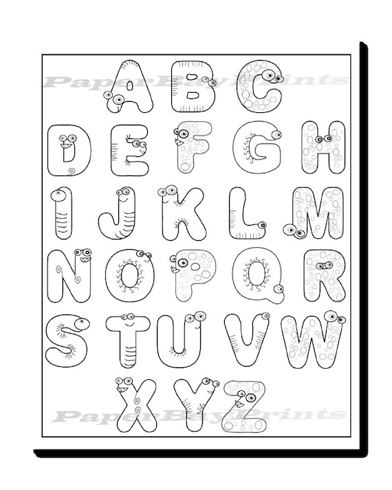 Alphabet Coloring Page for Kids Printable coloring page