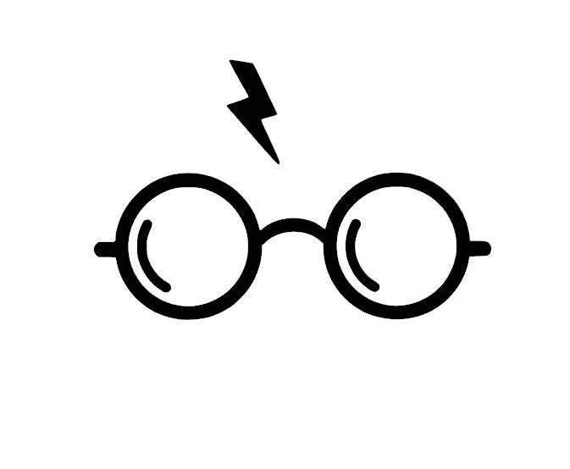 Harry Potter Glasses Lightning Bolt Vinyl Decal/Bumper