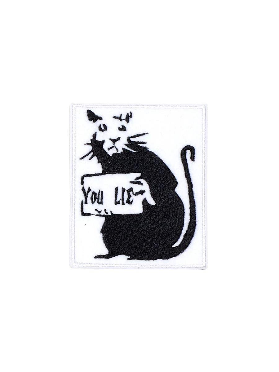 You Lie Rat Banksy Patch Iron On Embroidered Patches
