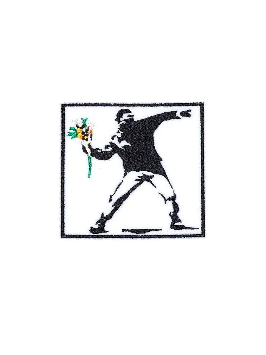 Vandal Banksy Patch Iron On Embroidered Patches Applique