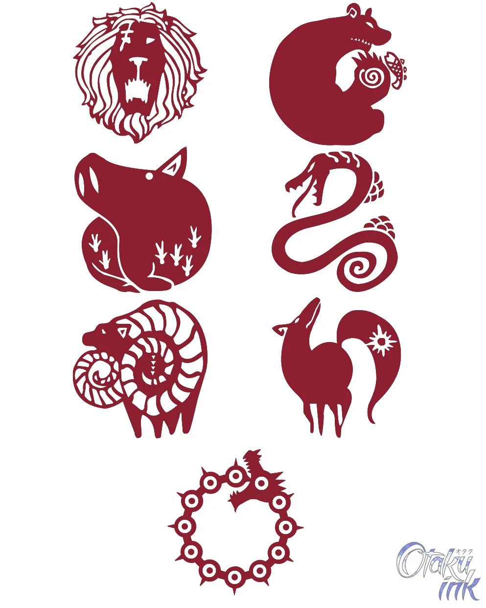 Seven Deadly Sins Tattoo Ideas