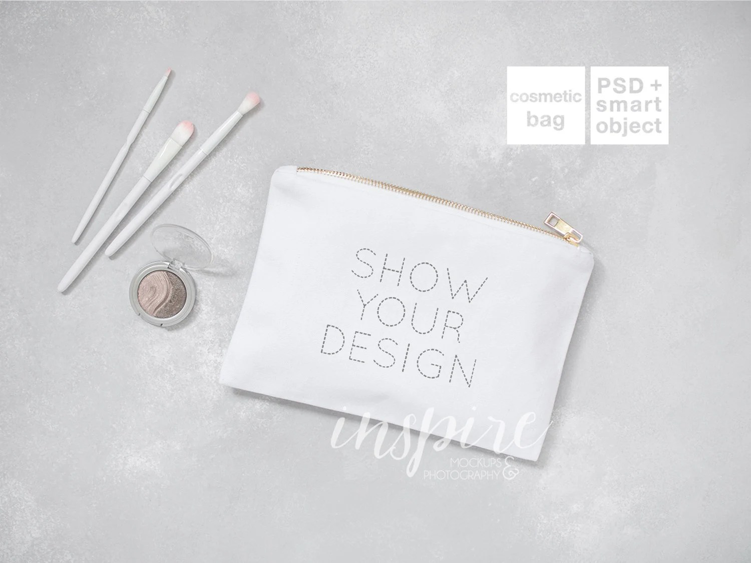 Makeup bags occupy a very specific niche and can't be replaced by anything else. Cosmetic Bag Mockup Add Your Design Zippered Canvas Etsy