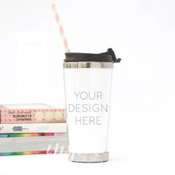 Travel Tumbler Mockup Psd Smart Object Insulated Tumbler Etsy