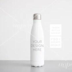 17oz Water Bottle Mockup Psd Smart Object Minimalist Etsy